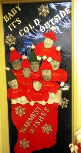 how to decorate a door at work for christmas