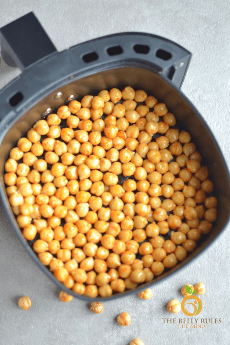 Air Fried Spicy Roasted Chickpeas | The Belly Rules The Mind   – Air fryer recipes