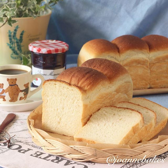 Soya Milk Bread  Here's another shot of my earlier loaves of Soya… via @feedfeed on https://thefeedfeed.com/joannebakes/4010520