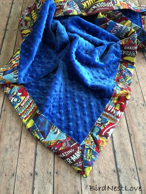 A Marvel baby blanket. | Community Post: 25 Geeky Gifts Every Marvel Fan Needs