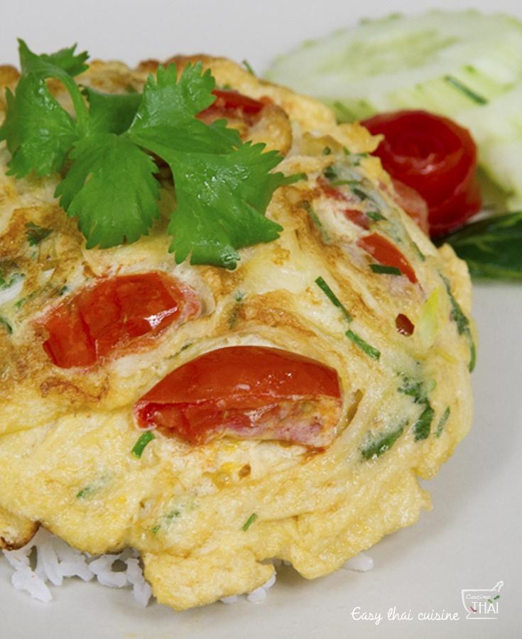 Como preparar tortilla tailandesa, un plato fácil y delicioso.