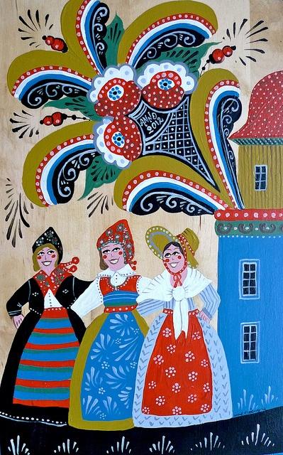 Traditional swedish art