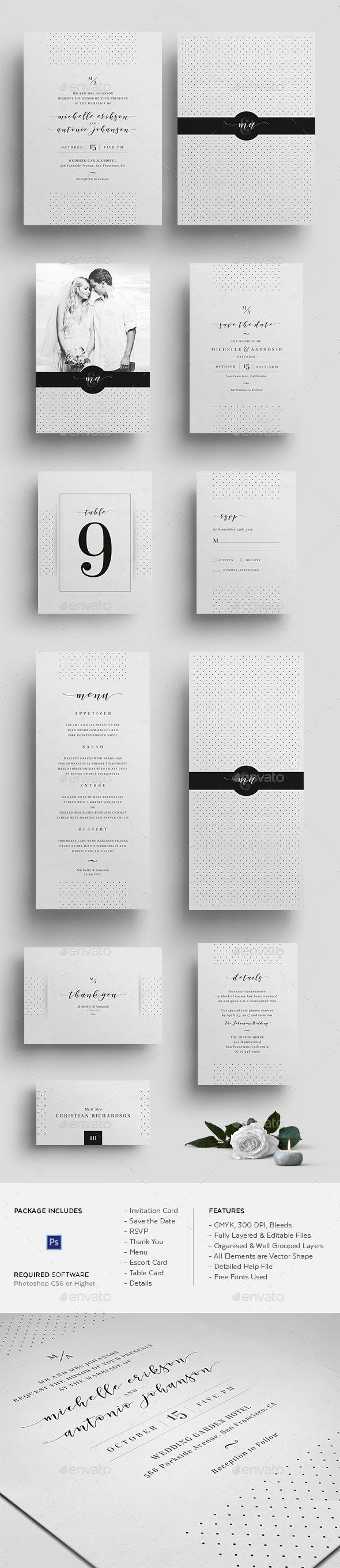 238 best Wedding Invitation Templates images on Pinterest | Font ...