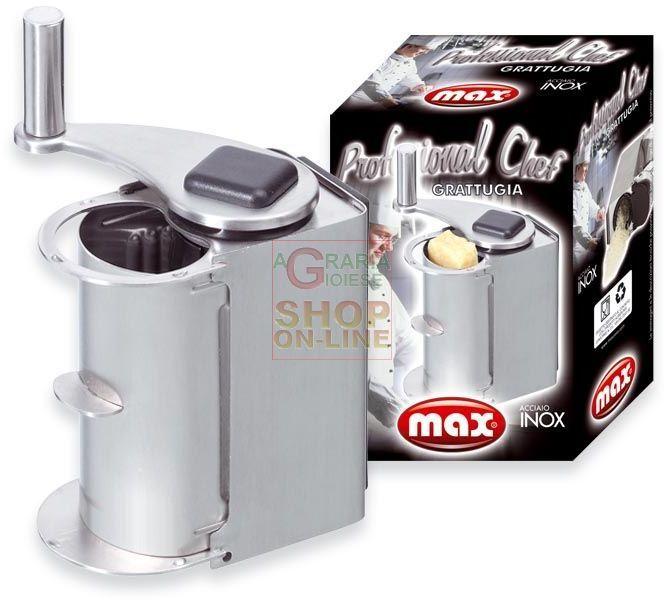 MAX GRATTUGIA INOX PROFES.CHEF PARMINOX https://www.chiaradecaria.it/it/max/11540-max-grattugia-inox-profeschef-parminox-8017365022068.html