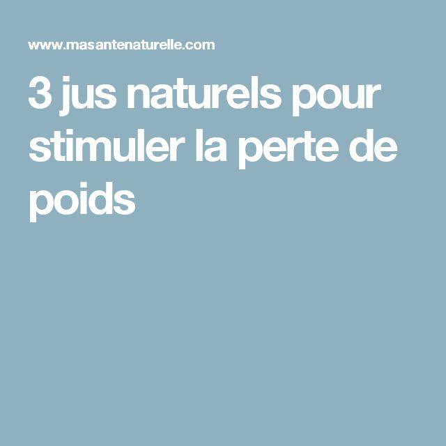 3 jus naturels pour stimuler la perte de poids
