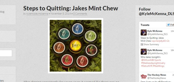 My newest blog post is up about the steps I took towards actually quitting chewing tobacco. #Dip #Chewingtobacco #Grizzly #JakesMintChew #Thelittlething5