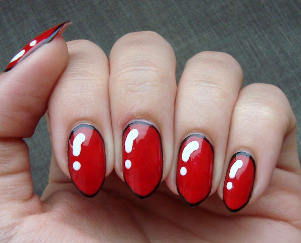 #rednails #bordernails #nailart
