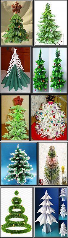 (+1) тема - Елки на любой вкус. Различные поделки из бумаги для детей и взрослых. Снежинки и елки из бумаги | РУКОДЕЛИЕ