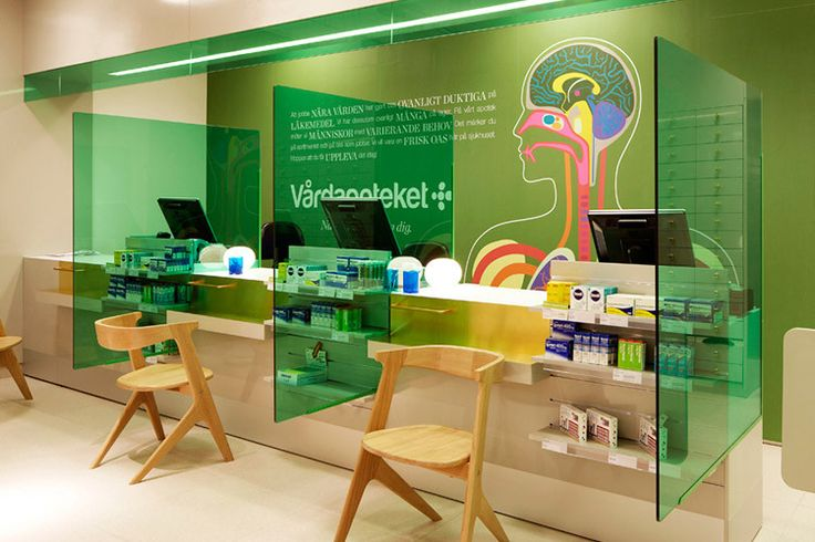Pharmacy Design | Retail Design | Store Design | Pharmacy Shelving | Pharmacy Furniture | Pharmacy branding by Stockholm Design Lab