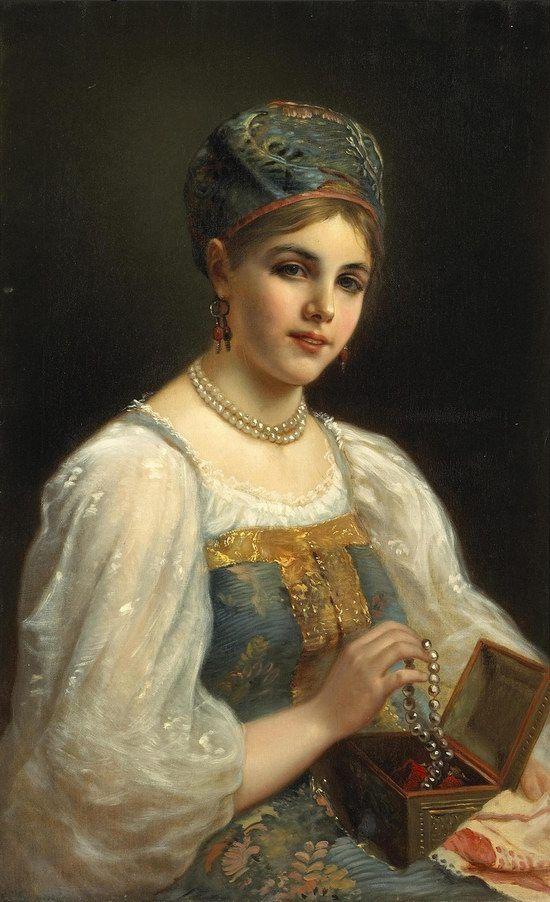 Russian beauty, Konstantin Makovsky painting 5