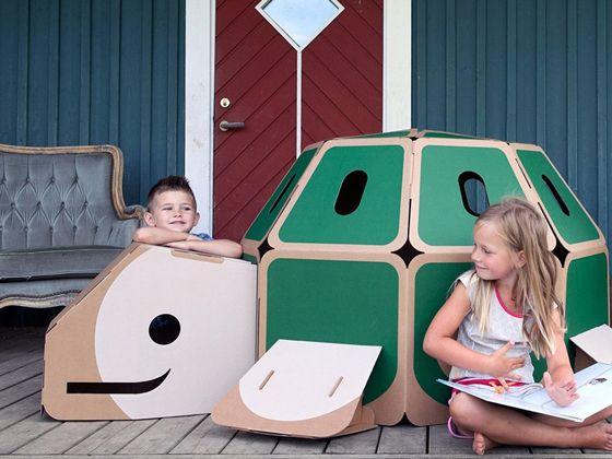 Hulki : les animaux cabanes en carton - Le Baby Blog - Doctissimo