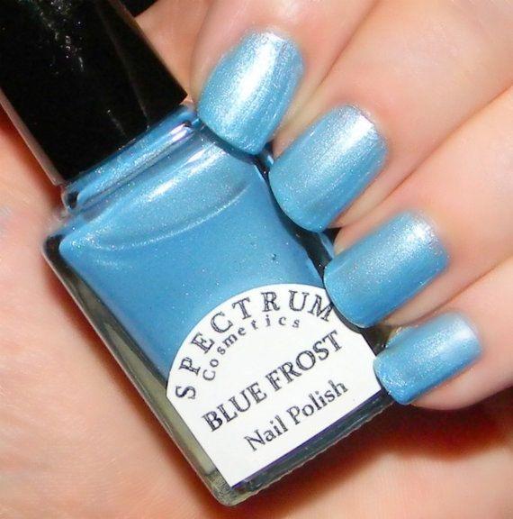 BLUE FROST  Frosty Light Blue Nail Polish by SpectrumCosmetic