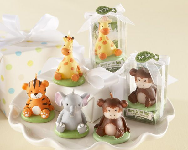 "Baby Shower Candle Favors - ""Born to be Wild"" Animal Candles (Set of 4, Assorted) Original Unit Price: As low as $1.90 Sale Price: $1.62 (15% off) http://favorcouture.theaspenshops.com/Born-to-be-Wild-Animal-Candles-Set-of-4.html"