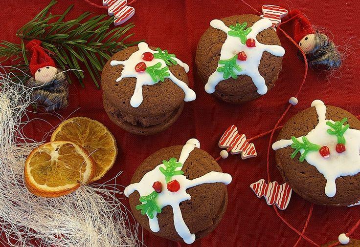 Christmas chocolate whoopies