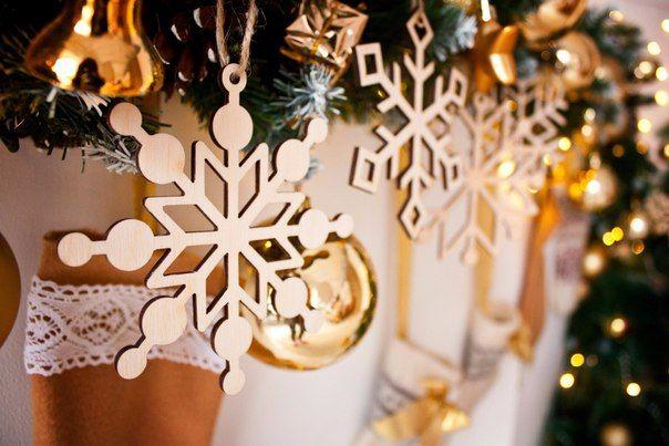 El Gravo, Милые штуки, laser cut, plywood, snowflakes, new year, лазерная резка, фанера,  снежинки, новый год.