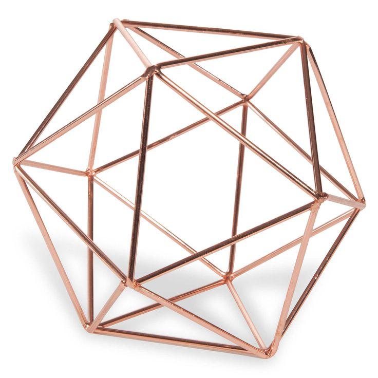 Boule filaire en métal cuivré D 12 cm COPPER