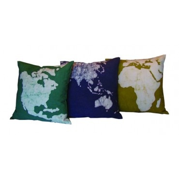 world map pillows