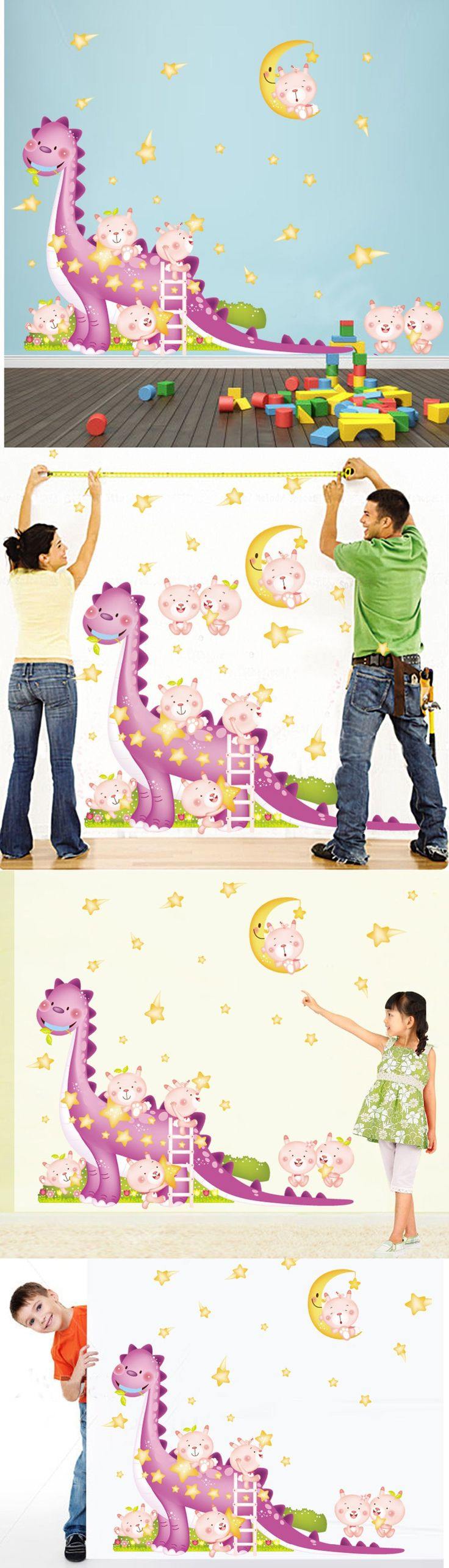 best 25 dinosaur wall stickers ideas on pinterest dinosaur wall cartoon dinosaur wall stickers home decor adesivo de parede living room bedroom tv background pvc kids wall mural