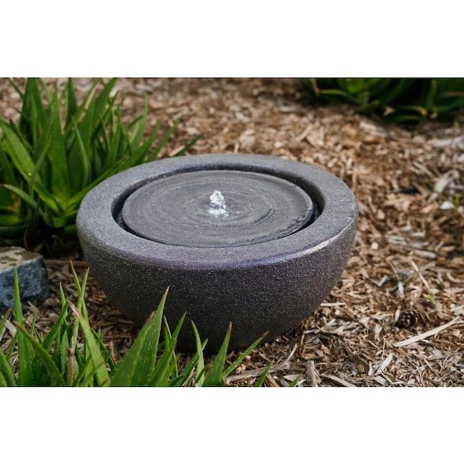 Xbrand 9 65 In H Resin Fountain Statue Outdoor Fountain Lowes Com In 2020 Tabletop Water Fountain Indoor Water Fountains Water Fountain