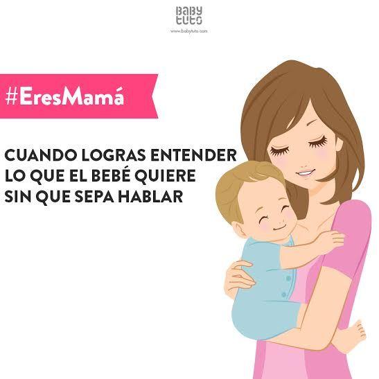Cuando #EresMamá logras descifrar que significa una mirada o un pequeño gesto ¡Un súperpoder que tienen algunas mamás! https://www.babytuto.com