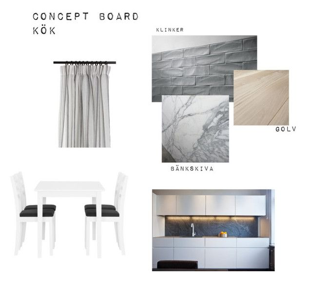"""""""Concept board kitchen"""" by rebeccadyrting on Polyvore featuring interior, interiors, interior design, home, home decor, interior decorating, Eightmood and kitchen"""