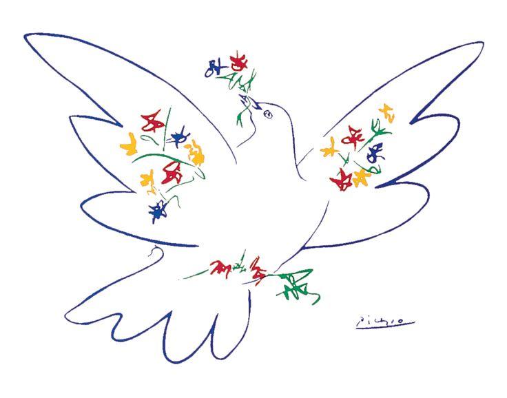 La colombe tenant en son bec unebranche d'olivier – dessinée par Pablo Picasso en 1949 – symbolise la paix à laquelle les citoyens du monde plus que jamais aspirent. Les responsa…