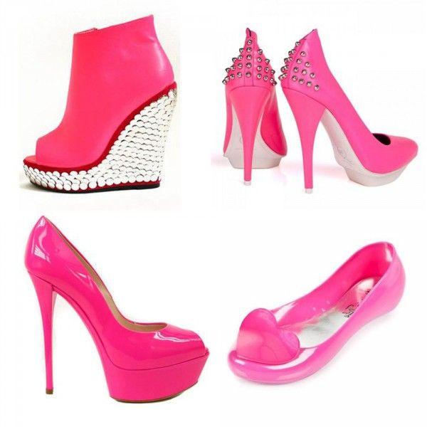 #neon #pink #shoes http://ko-te.com