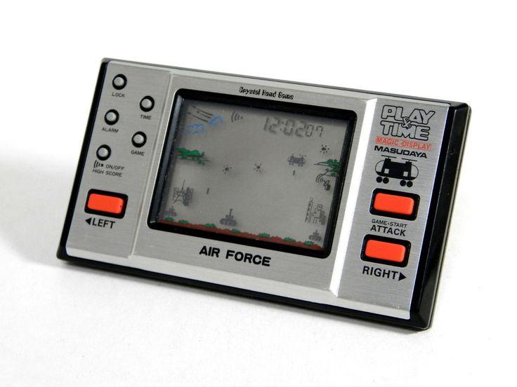 80s Retro Masudaya LCD Game Play & Time Air Force Made in Japan Great Condition #Masudaya