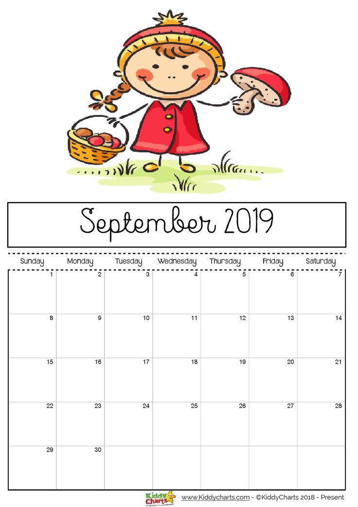 Free printable 2019 calendar for kids Calendars Pinterest