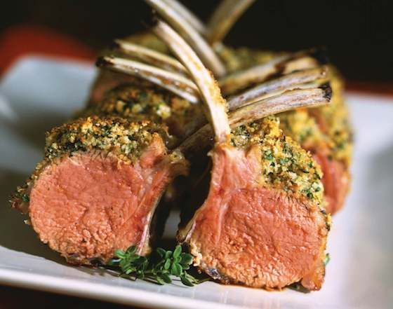 Lamb Persillade: This is a winner, a special dinner regular I make. So easy to make at a fraction of the cost in a restaurant (get the racks at Costco) http://www.foodnetwork.com/recipes/ina-garten/rack-of-lamb-persillade-recipe/index.html