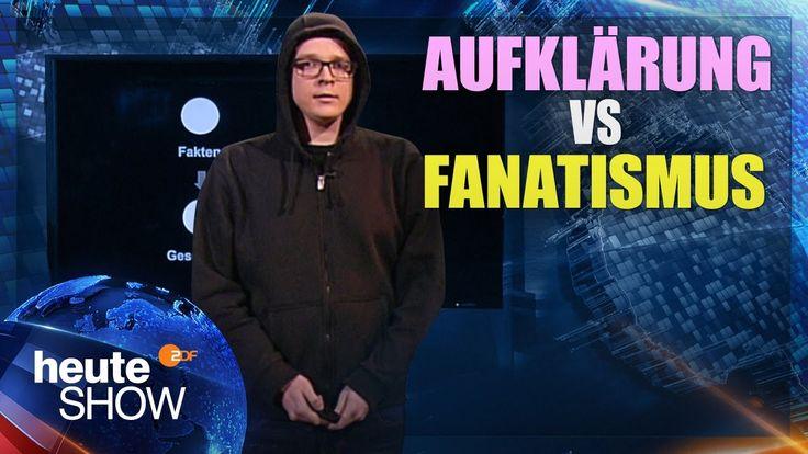 Nico Semschrott hat mit einer Power Point Präsentation und anhand ein paar einfacher aber einleuchtender Beispiele in der heute Show den Unterschied zwischen Aufklärung und Fanatismus erklärt