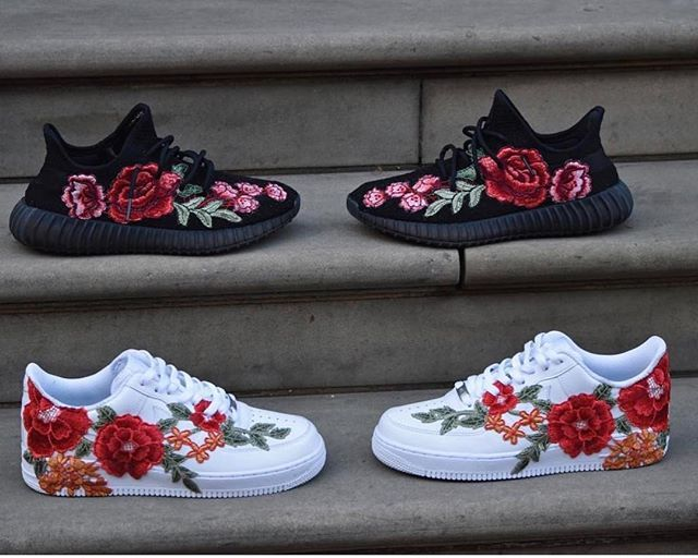 Adidas or Nike  Follow @frecustoms and shop their Flowerbomb customs that dropped today www.freofficial.com @frecustoms VERY LIMITED STOCK !!  @frecustoms  #Yeezyboostoffical Tag someone