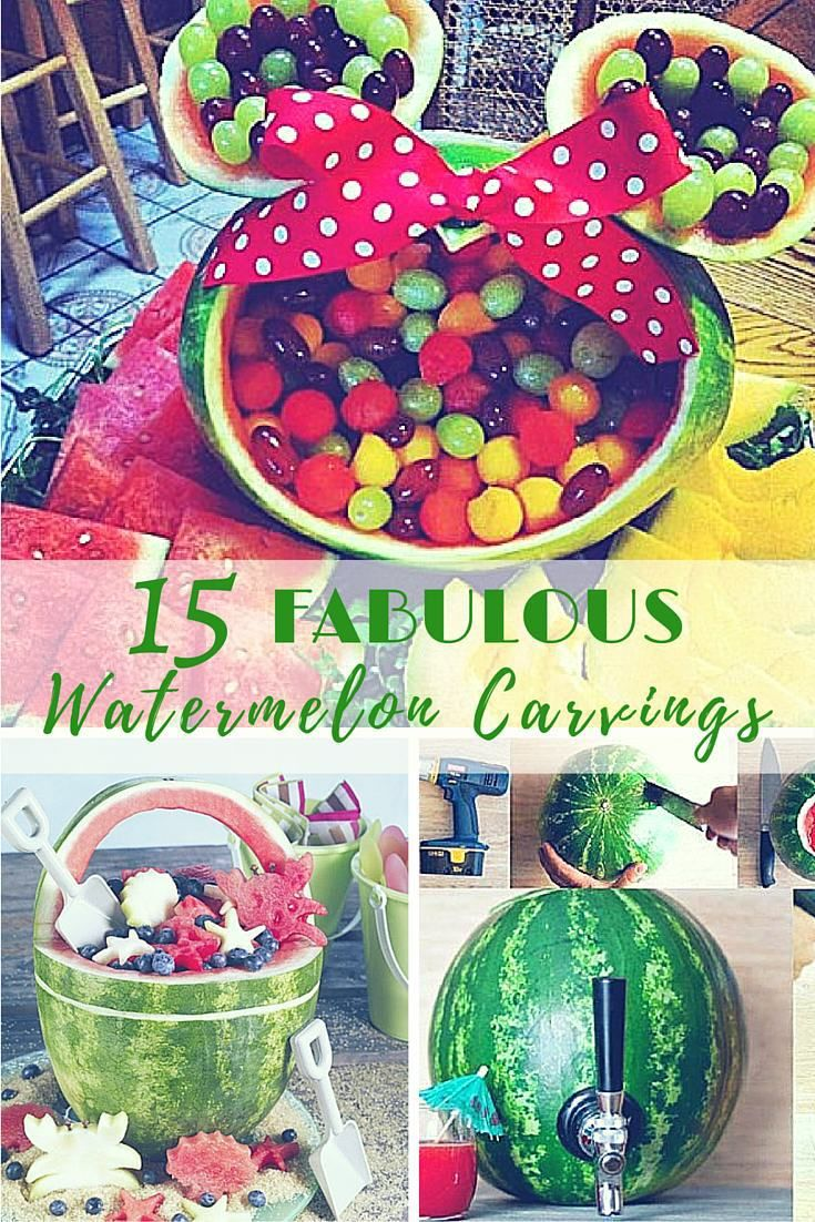 15 Fabulous Watermelon Carving Centerpieces