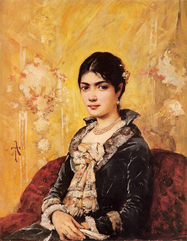 Tadeusz Ajdukiewicz, Portret Heleny Marcello-Palińskiej, 1880