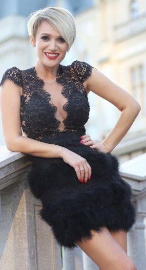 CRISTALLINI #CocktailDress #Prom #Fashion #Glamour #RedCarpet #SwanFeathers