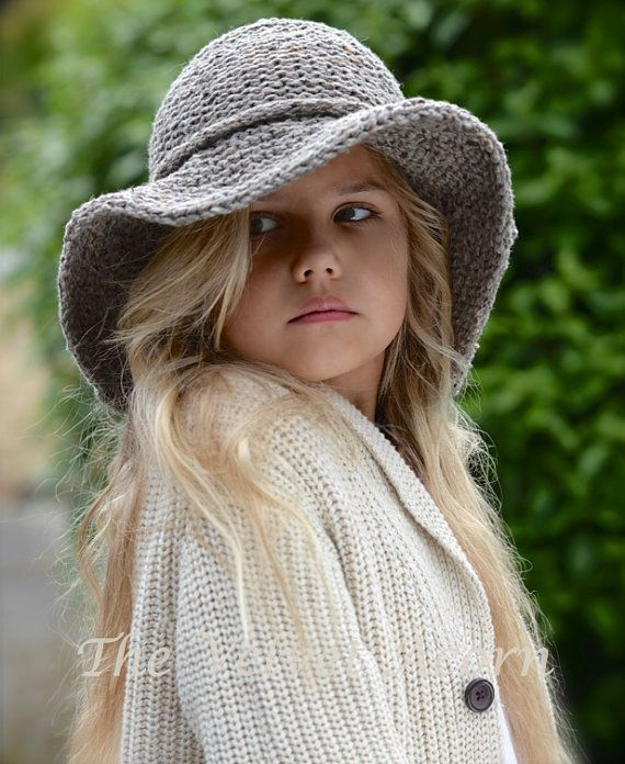 KNITTING PATTERN Freelyn Brim Hat Small Medium by Thevelvetacorn