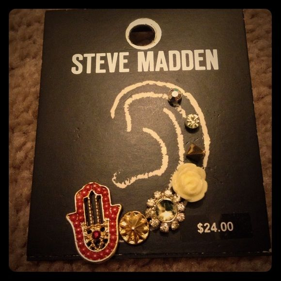 Adorable Steve Madden Earrings A variety of earrings for various ear piercing locations. Each one is adorable on its own but combine them for a gorgeous statement. New, never worn. Steve Madden Jewelry Earrings