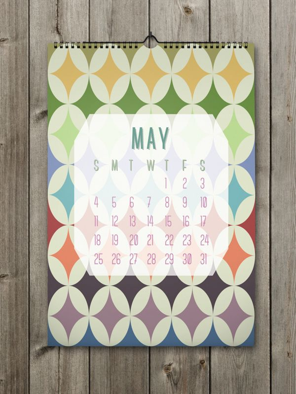 May Inspiring Calendar Design for the New Year: Shapes Calendar 2014