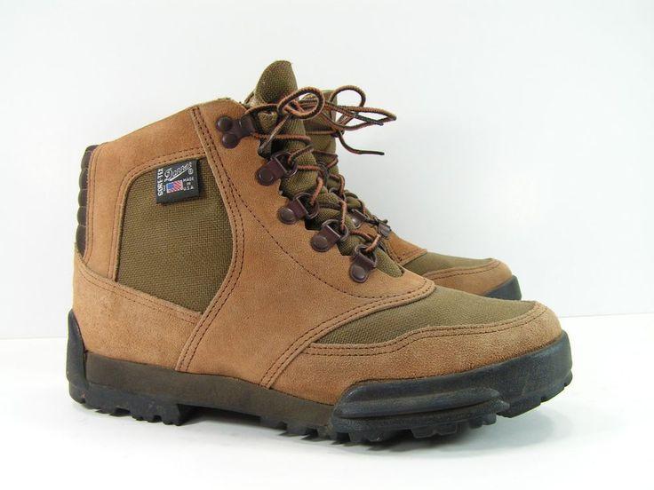 danner hiking boots women's 9.5 M brown goretex leather suede vintage 1990 #Danner #HikingTrail