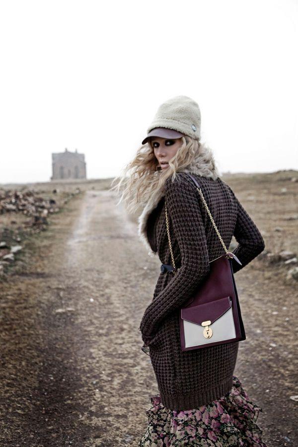 Elle Turkey shoot on the road into Ani, Turkey