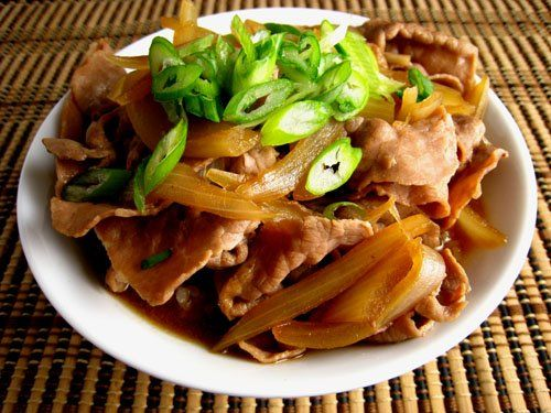 Gyudon (Beef Rice Bowl) - short for gyu donburi or beef rice bowl is a ...