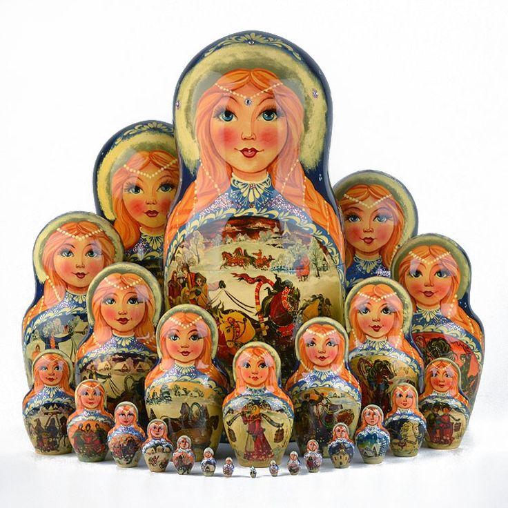 Russian Troika 25 pcs. Nesting Doll