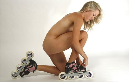 Nicole Begg did this photo shoot to raise awareness about inline speed skating  http://bit.ly/HwXACs