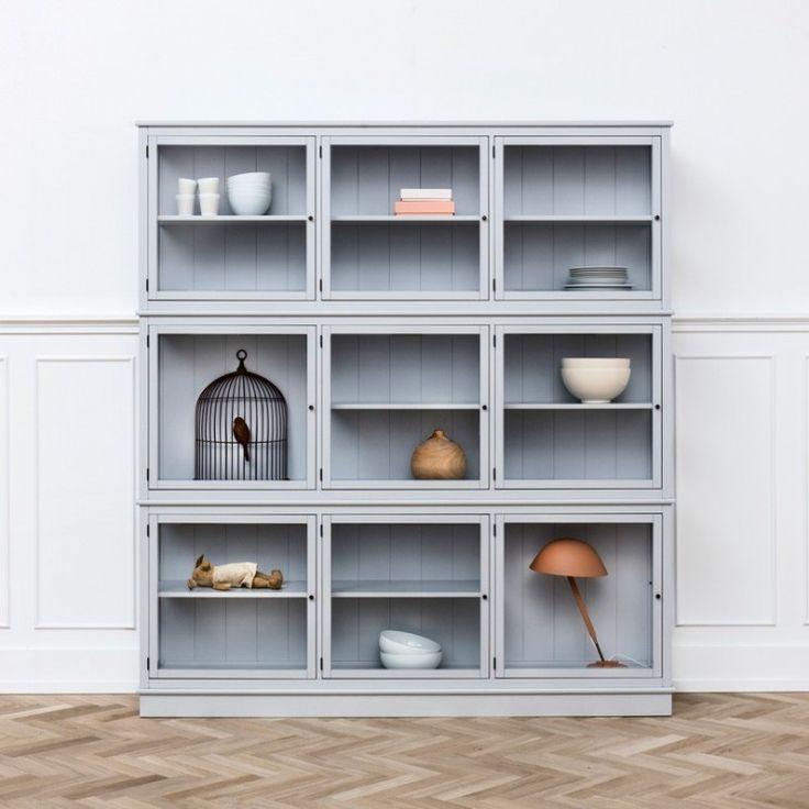 Oliver Furniture Vitrinskåp Grå 187 - Oliver Furniture - Varumärken