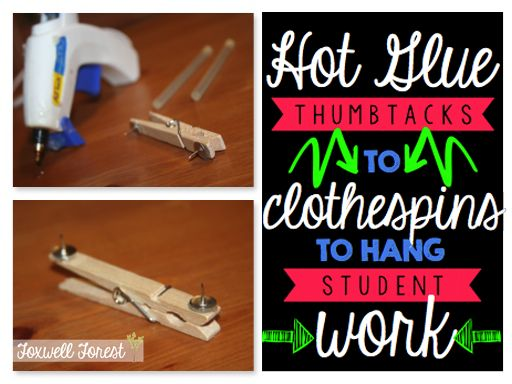 An EASY way to hang student work!!