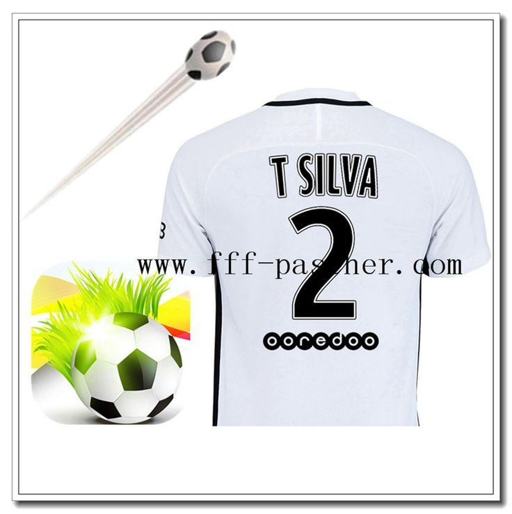 Flocage Maillot de Foot PSG (T SILVA 2) Third 2016/2017 Officiel