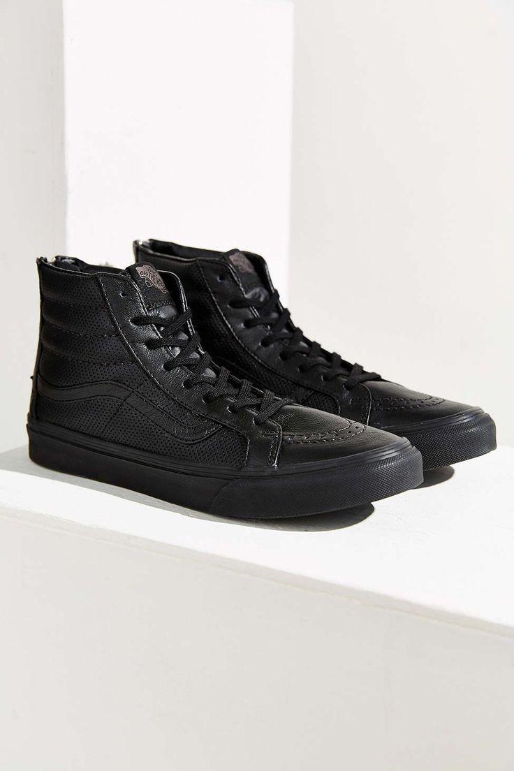 Vans Sk8-Hi Perforated Leather Zip Sneaker