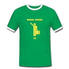 Männer Kontrast T-Shirt - Bequem geschnittenes T-Shirt für Männer mit farblich abgesetztem Rundkragen und Ärmeln, 100% Baumwolle, Marke: Sonar