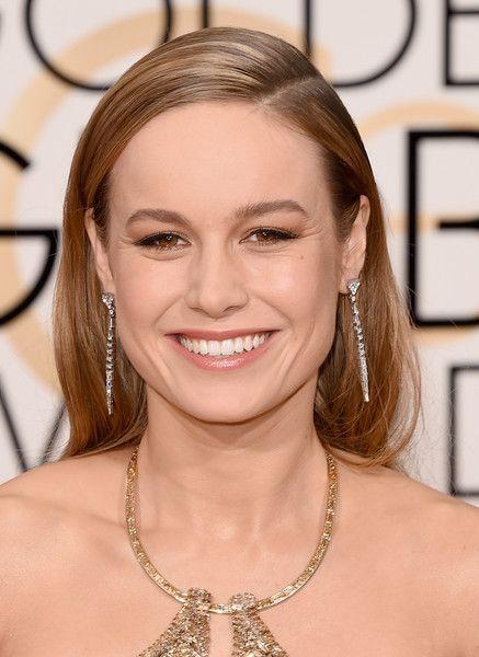 Brie Larson Long Side Part - Newest Looks - StyleBistro