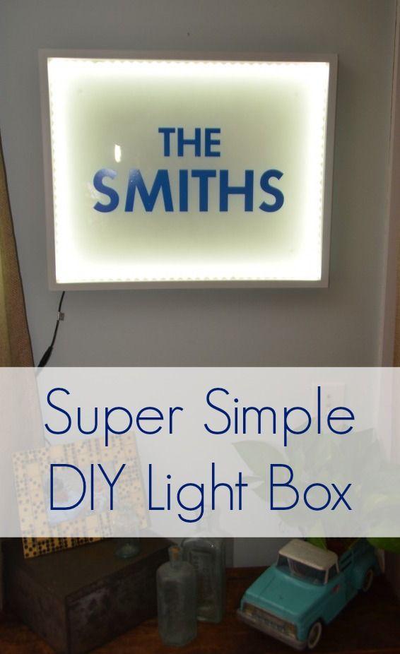Simple light box using shadow box frame and LED light strips www.ciburbanity.com
